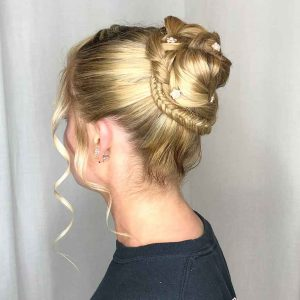 Roc's Unisex Salon - Formal Updo Style