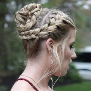 Roc's Unisex Salon - Formal Updo Wedding Hairstyle