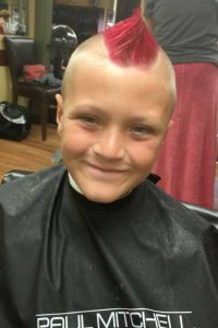 Roc's Unisex Salon - Red Mohawk